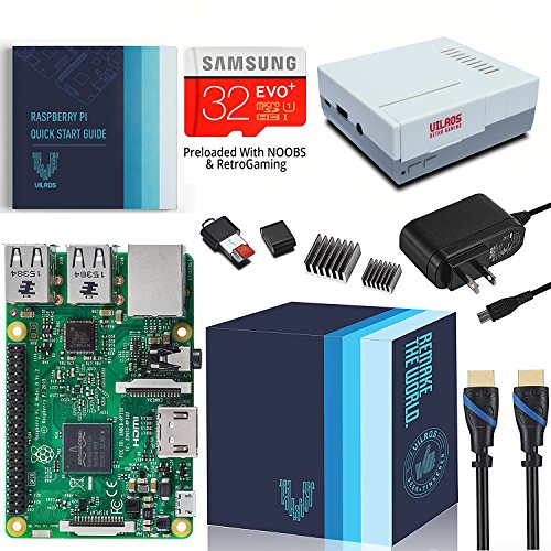 Raspberry Pi 3 Complete Starter Kit With Retro Gaming Case (Raspberry B Kit)