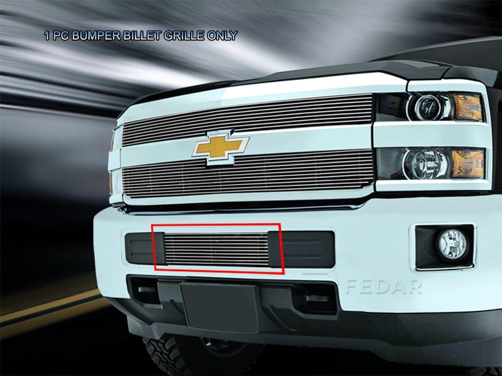 Fedar Lower Bumper Overlay Billet Grille Insert for 2015-2016 Chevrolet Silverado 2500HD//3500HD