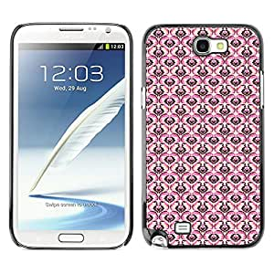 ZECASE Funda Carcasa Tapa Case Cover Para Samsung Galaxy Note 2 N7100 No.0000150