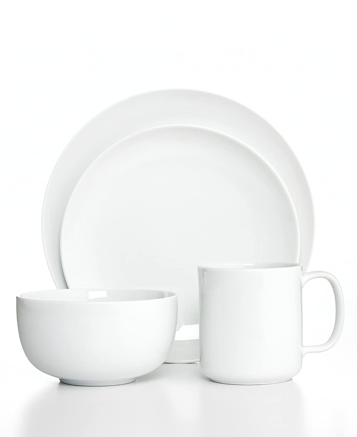 Amazon.com | The Cellar Dinnerware Whiteware Coupe 4 Piece Place Setting Dinnerware Sets  sc 1 st  Amazon.com & Amazon.com | The Cellar Dinnerware Whiteware Coupe 4 Piece Place ...