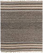 Surya Papilio by Camel Hand Woven Stripes Area Rug, 8-Feet by 10-Feet