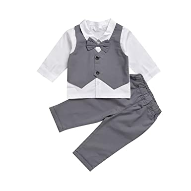 Amazon.com  Infant and Toddler Baby Boy Gentleman Formal Party Wedding Suits  Outfits  Clothing 5d7ac6b39