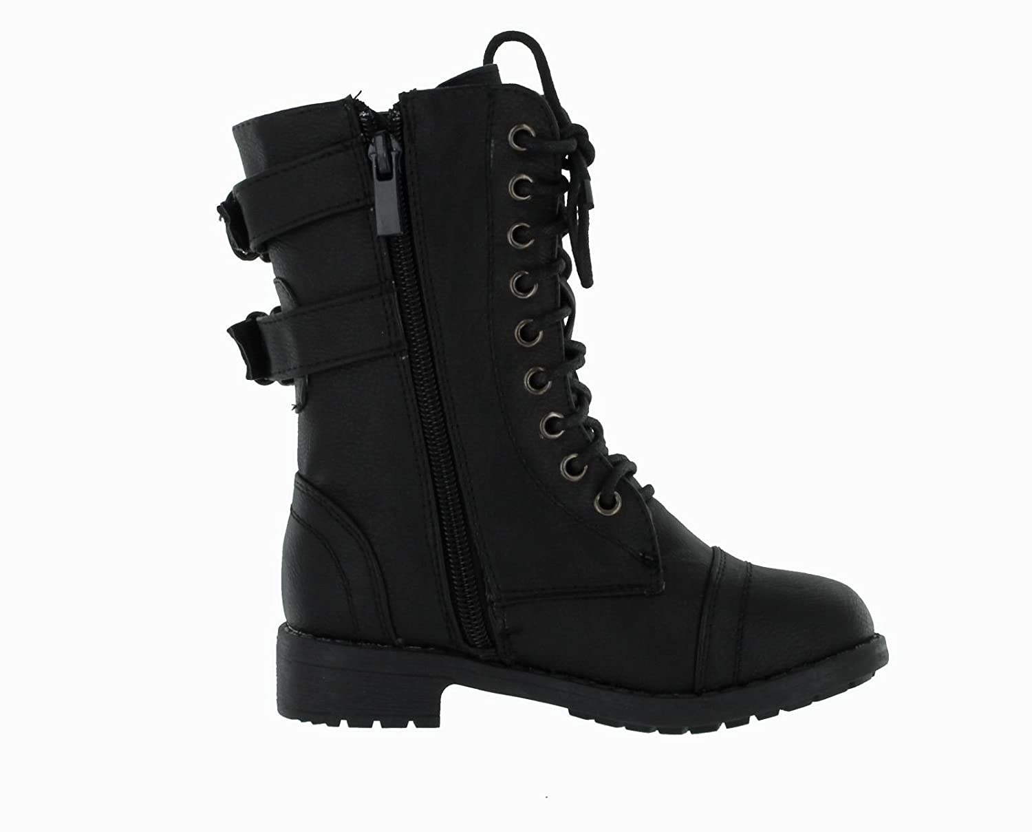 Amazon.com | Lucky Top Girls Faux Leather Combat Boots | Boots