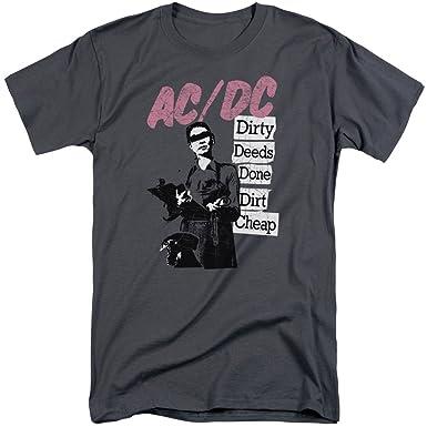 2637d6c3ed Amazon.com: A&E Designs AC/DC Shirt Dirty Deeds Done Dirt cheep Tall ...