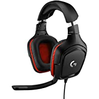 Logitech G332 Wired Gaming Headset, 50 mm Audio Drivers, Rotating Leatherette Ear Cups, 3.5 mm Audio Jack, Flip-to-Mute…