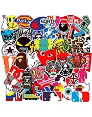 100-Pcs Street Fashion Sticker Pack Waterproof Cute Aesthetic Trendy Vinyl Stickers for Teens Kids Girls and Boys, Perfect for Car Motorcycle Bicycle Skateboard Luggage Decal Graffiti Patches