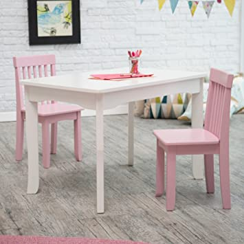 Lipper Mystic Table and Chair Set - Pink & Amazon.com: Lipper Mystic Table and Chair Set - Pink: Kitchen \u0026 Dining