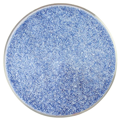 Caribbean Blue Transparent & White Opalescent 2-Color Mix Fine Frit - 4oz - 90COE - Made From Bullseye ()