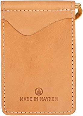 5cca49e5eb5 Made in Mayhem Madison Genuine Leather money clip wallet Slim wallet made  in USA - Fawn