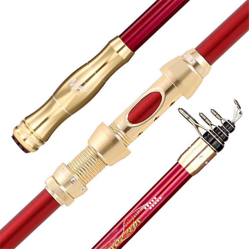 スピニングフィッシングロッドポータブルフィッシングロッド 釣りロッド釣り用品釣り竿川のリバーサイドに適した炭素鋼棒 (サイズ : 2.7m) 2.7m  B07PXQH13L