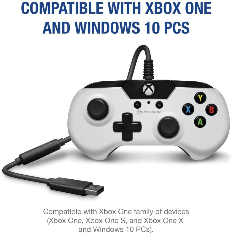 X91 Wired Controller for Xbox One/Windows 10 (White) - Hyperkin ...