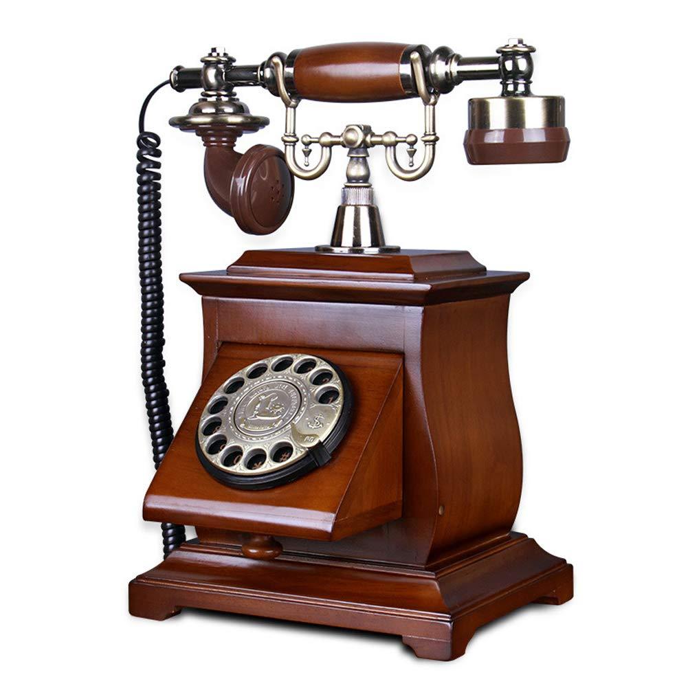 HENRYY Teléfono Antiguo de Madera Vintage Antiguo Tocadiscos dial ...