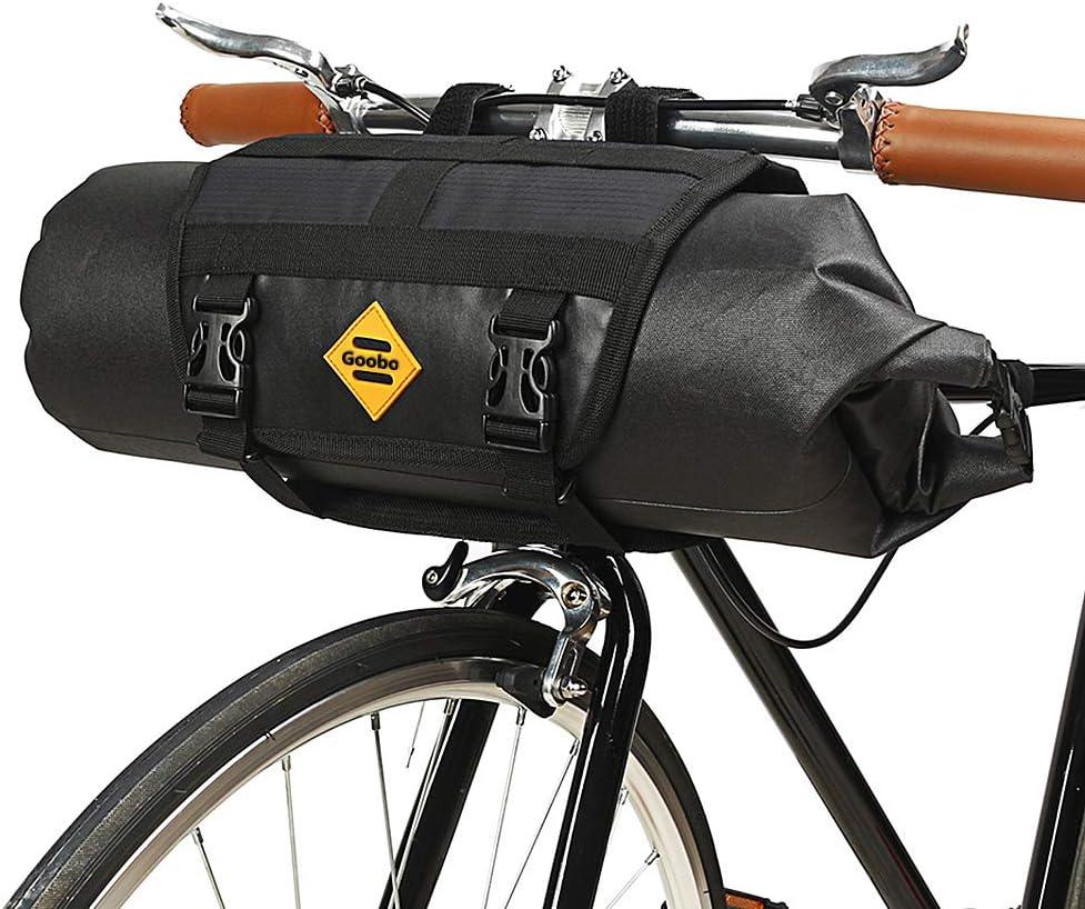 5L Bike Handlebar Bag With Strap Front Tube Pannier Basket Bicycle Shoulder Bags