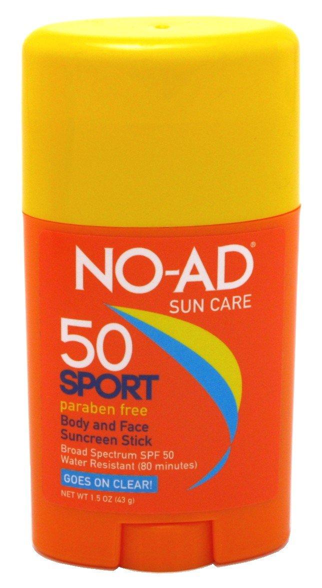 No-Ad NO-ADないスポーツサンケアボディとフェイススティックSPF 50 1.5オンス   B00TUEISQ0