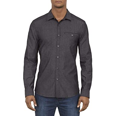 Kenneth Cole New York Long Sleeved Chambray Button Down Shirt at Amazon  Men s Clothing store  ab63c9bf9