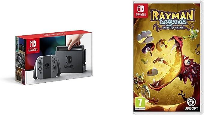 Nintendo Switch - Consola, color gris + Rayman Legends: Definitive Edition: Amazon.es: Videojuegos