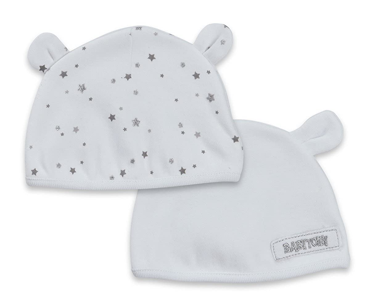 Babytown 2 Pack Baby Girls Boys Teddy Ears Hat Beanie Newborn 0-6 Months Unisex