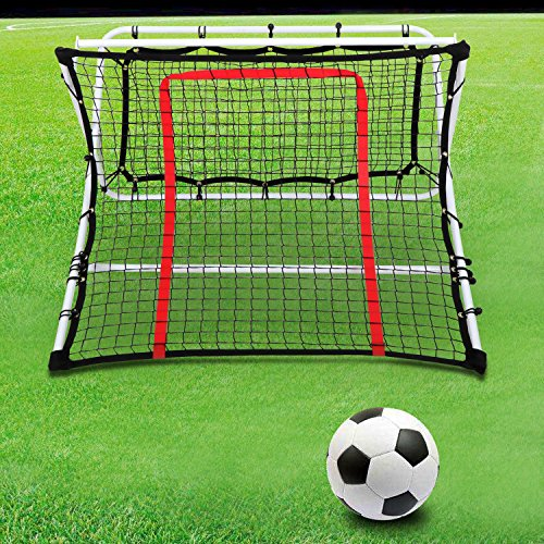 Patiojoy Soccer Trainer Rebound Net Ramp Football Fold Equipment Goal Shoot Training