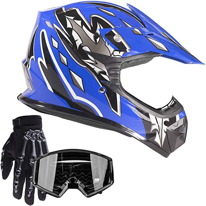 Aust Std Motocross Helmet /& Goggles XL Youth Various Colours dirt bike quad