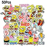 Ratgoo Random Spongebob Series Stickers Pack,50 Pcs Non-repetitive Appliques,Difficult to Fade,Long Lifetime,Ideal Decals for Your Water Bottle,iPhone,Laptop,Bike,Guitar and More.Show Your own Style!