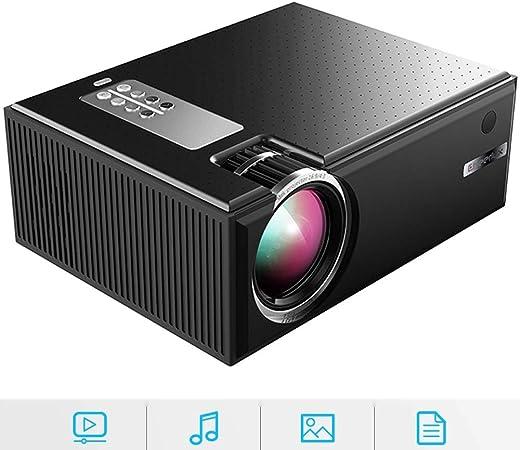 GJZhuan Proyector portátil Mini, Full HD 1080P 1800 Lúmenes C8 Proyector LED 4K WiFi Smart Home Cinema, Soporte HDMI/USB/VGA/AV Home Video Projector,Black: Amazon.es: Hogar