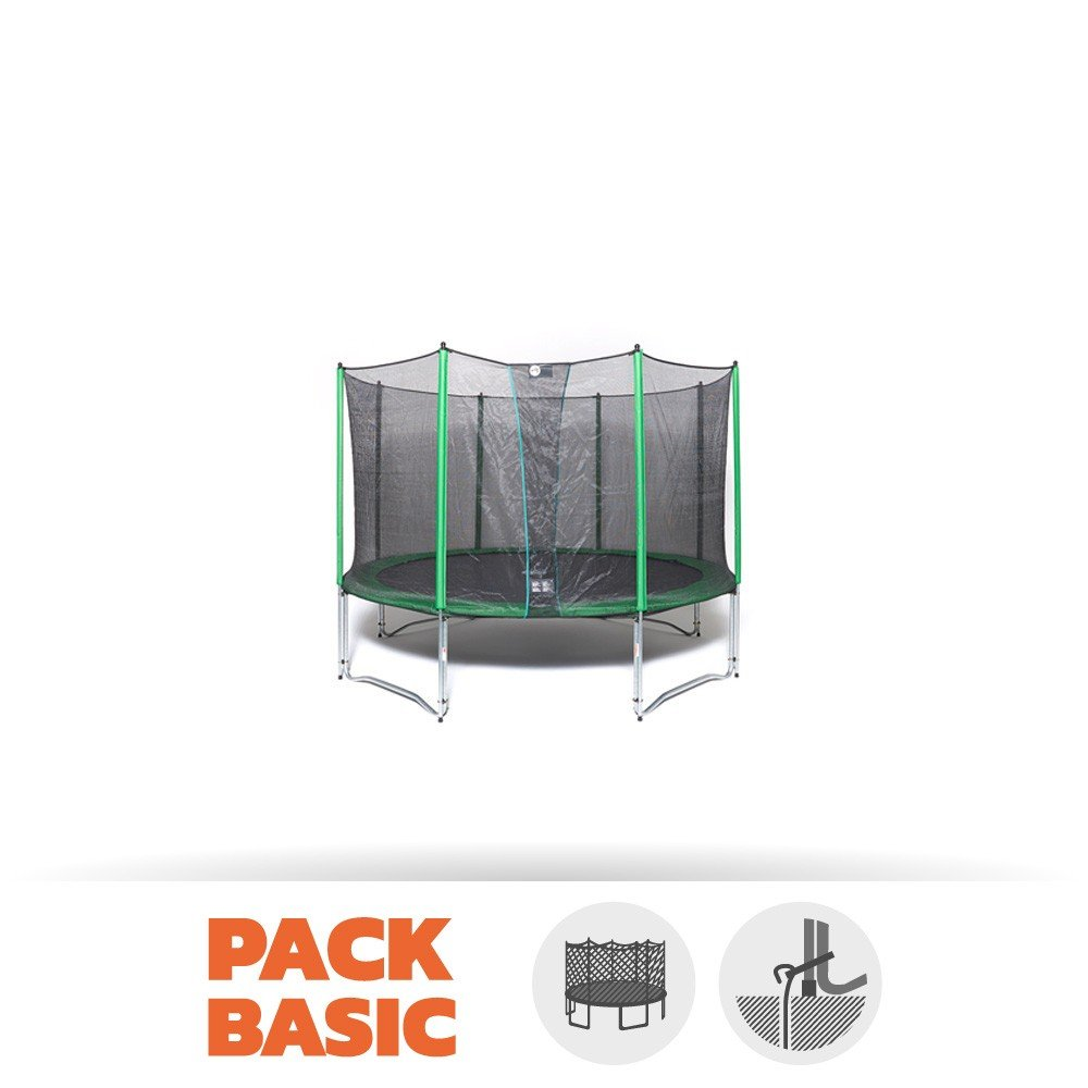 Pack Trampolin Basic Access 180 mit Netz + Kit Ankerstange