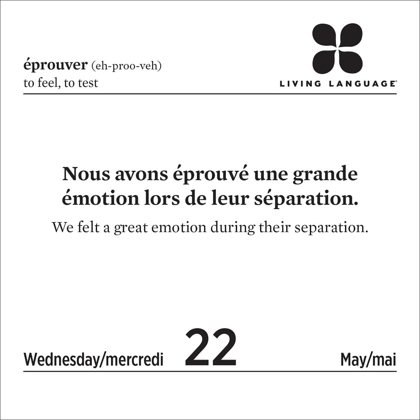 Qrm Calendrier.Living Language French 2019 Day To Day Calendar Random