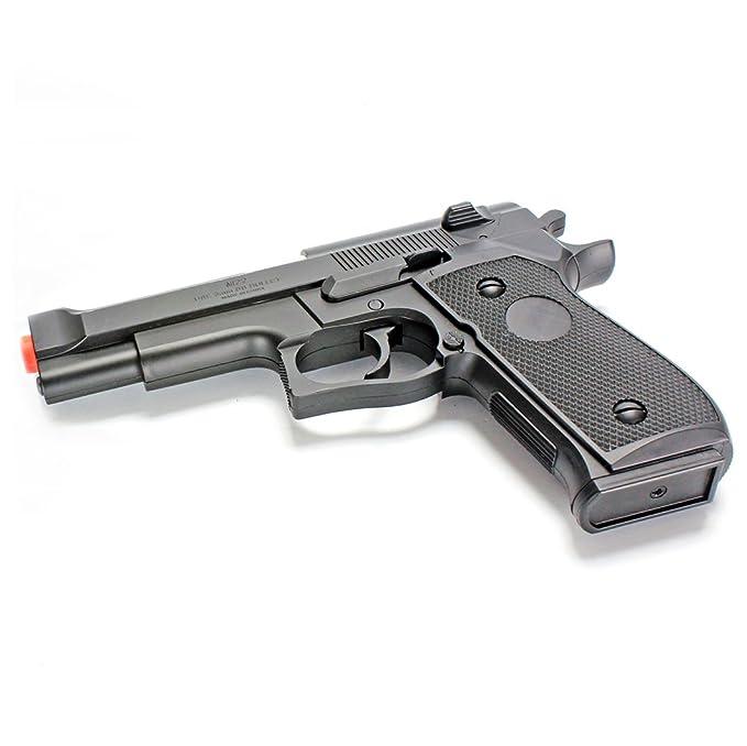 BBTac Airsoft Pistol BT-M22 Spring Loaded Gun Airsoft Handgun, High Power 300 FPS