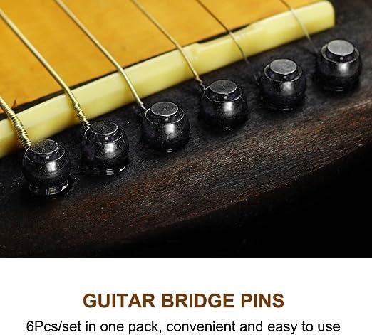 SUPVOX 6pcs Tone Pins Brass Acoustic Guitar Bridge Pins Brass ...