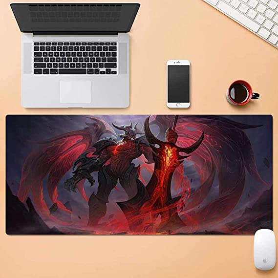Professional Gaming Mouse Pad for League of Legends-Aatrox,Non-Slip Rubber Base,Stitched Edges,Cloth Surface Optimized for Speed Mouse Mat,for Laptop Computer /& PC,12x24inch