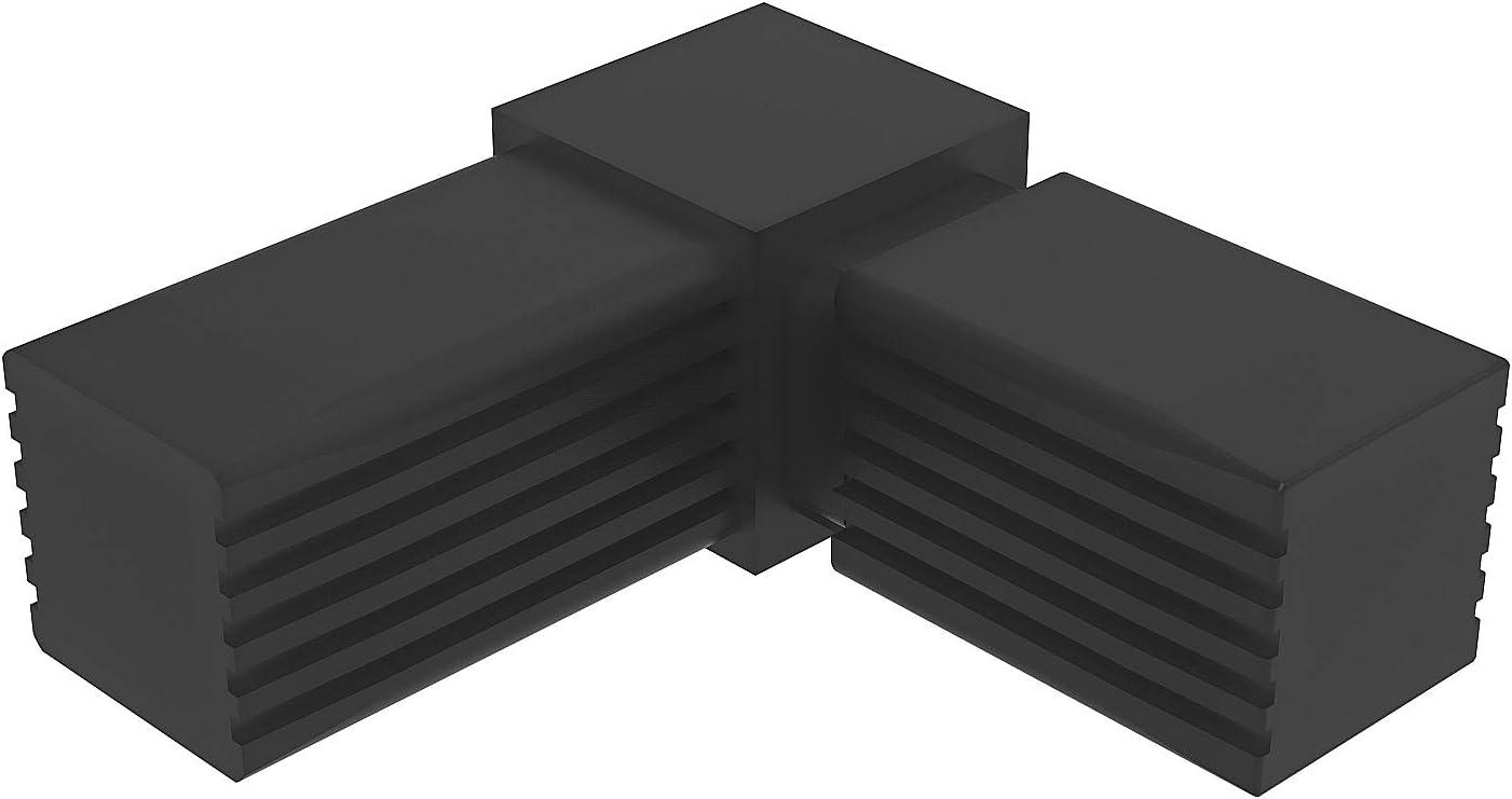 Con ALMA de Acero Conectores para tubos cuadrados mm en C - 2 unidades // 30,00 x 30,00