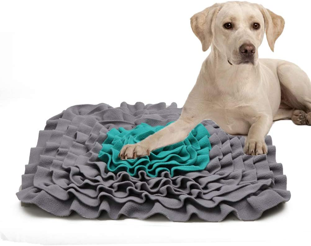 Lcybem Snuffle Mat for Dogs - Dog Puzzle Toys, Interactive Feed Game for Boredom, Encourages Natural Foraging Skills for Cats Dogs Treat Dispenser Indoor Outdoor Stress Relief