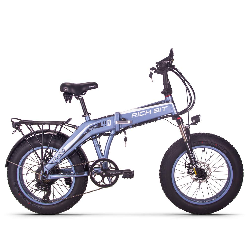 RICH BIT TOP016 自転車 折り畳み MTB 20インチ 500w 48V9.6ahリチウム 7段速 折り畳むバイク デスクブレーキ 通勤 通学 山登り   B07GGWQXFF