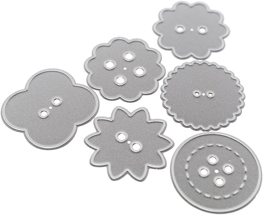 DOMYBEST 4pcs Etoiles Matrices de D/écoupe Dies Scrapbooking Cutting Decoupage Pochoir Stencil Carte Album Bricolage