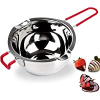 Double Boiler Pot, 304 Stainless Steel Melting Pot with Heat Resistant Handle, Universal Double Boiler Insert Pan for…