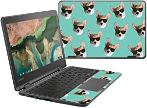"""MightySkins Skin Compatible with Lenovo 300e Chromebook 11.6"""" (2018) - Cool Corgi 