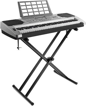 Soporte de teclado ajustable con correas de bloqueo, Soporte de teclado, patas perfil simple soporte para teclado con marco X