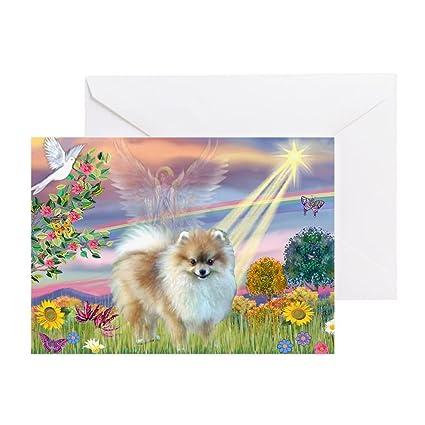 Amazoncom Cafepress Cloud Angel Pomeranian Greeting Card