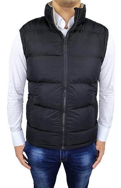 online retailer abc1f 49d9d Giubbotto smanicato uomo nero casual piumino giacca a gilet ...