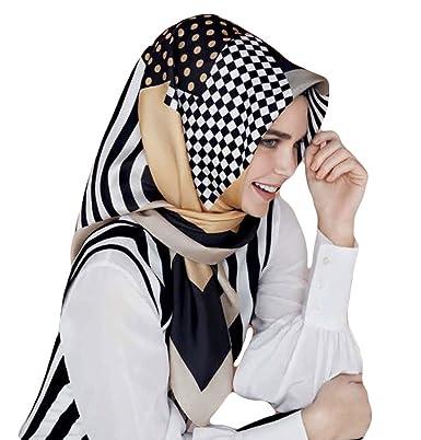Armine Femme Carré de soie foulard turque 90 x 90cm (36 x 36 po ... ef1ab86b534