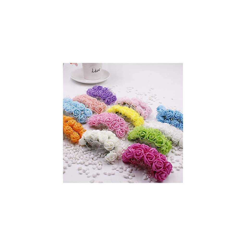 Foam-Roses-144pcs-Artificial-Multi-Color-Fake-Flower-DIY-Wedding-Home-Party-Decoration-Wedding-Car-Corsage-Decoration