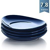 Sweese 151.103 Porcelain Dessert Salad Plates - 7.8 Inch - Set of 4, Navy