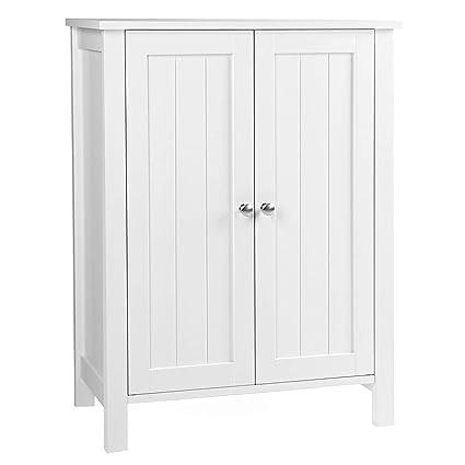 Amazon Com Vasagle Ubcb60w Bathroom Floor Storage Cabinet With