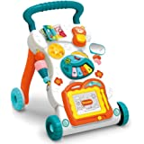 GMAXT Sit-to-Stand Learning Walker,Educational Push Toy for Babies,Artboard, Lighting and Music, Baby Music Toy Set-Kids…