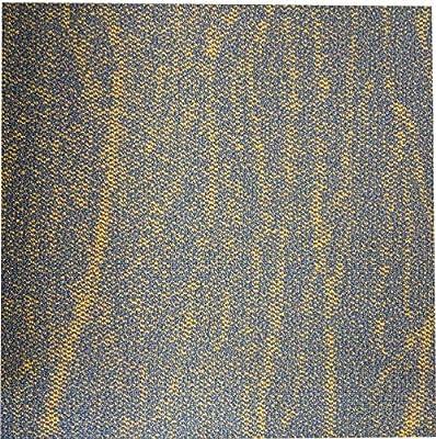 "Shaw Yellow Bird Peel and Stick Carpet Tile-24""x 24""(12 Tiles/case, 48 sq. ft./case)"