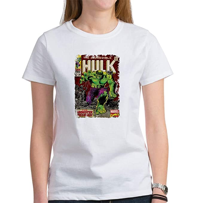 ddf4a892 CafePress Hulk Women's T Shirt Womens Cotton T-Shirt, Crew Neck,  Comfortable &