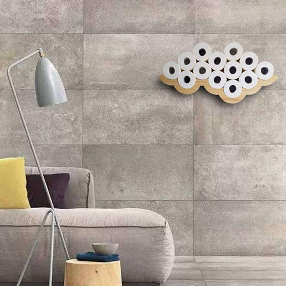 Gecious Cloud Toilet Paper Holder Wall Mount, Wood by Gecious (Image #9)