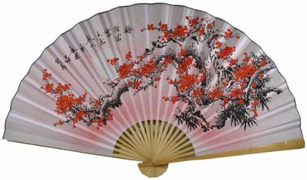 """""""35"""""""" Oriental Feng Shui Wall Fan--Flower FAN022"""""""