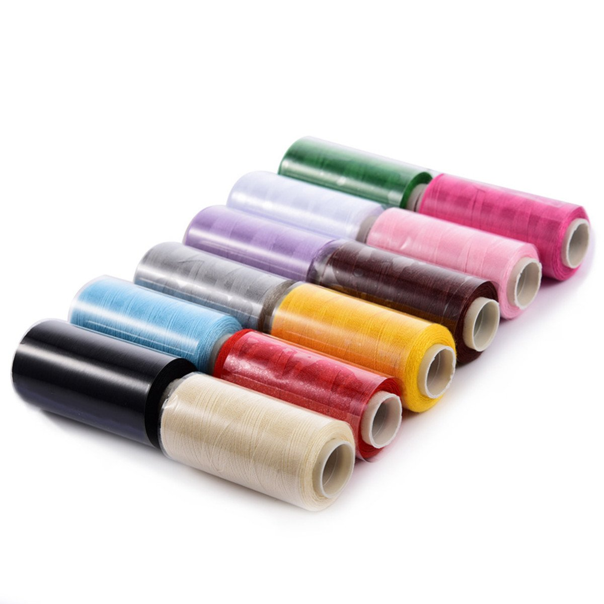 400 Yards White All Purpose Thread Sewing Mending Repairing Clothes Craft