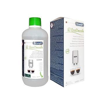 Delongi EcoDecalk - Descalcificador para máquinas de café, 500 ml (5 descalcificaciones): Amazon.es: Hogar